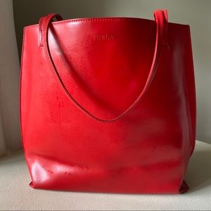 Furla - Red Smooth Leather Shoulder Bag Italy